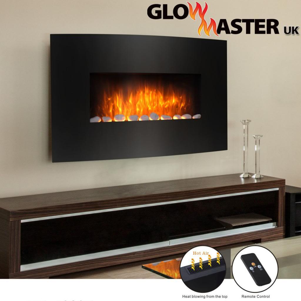 Glowmaster Knightsbridge Widescreen Black Wall Mounted Electric