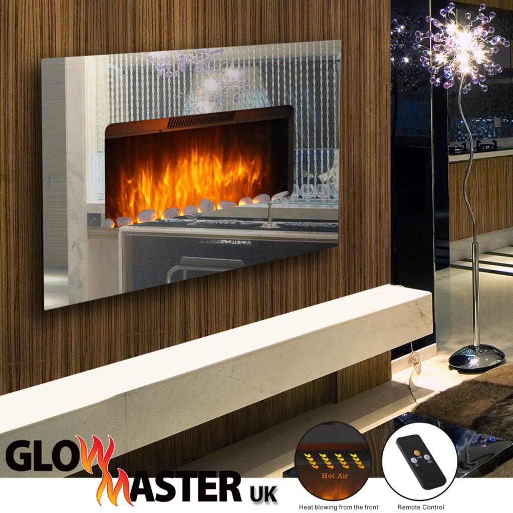 Swell Glowmaster Lichfield Wall Mounted Electric Mirror Glass Fireplace Download Free Architecture Designs Parabritishbridgeorg