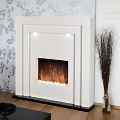 Modern Free Standing Electric Fireplace