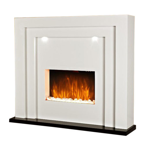 White Free Standing Fireplace