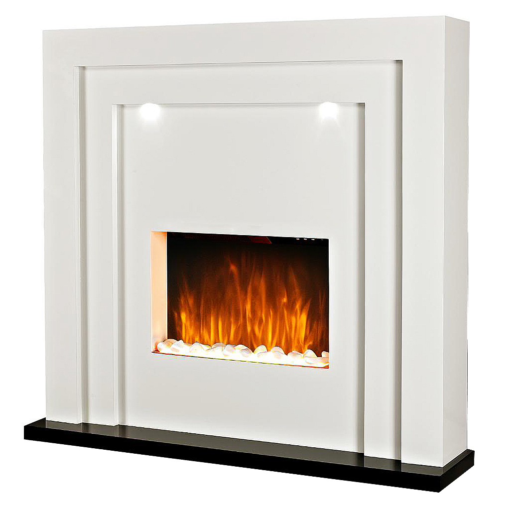 Glowmaster Electric Fireplace With Led Lights White Glowmaster Uk