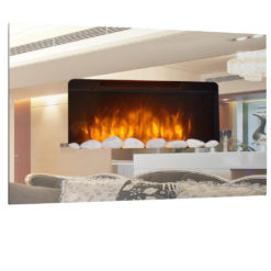 Mirror Glass Fireplace
