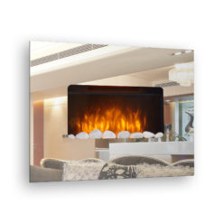 Electric Mirror Fireplace